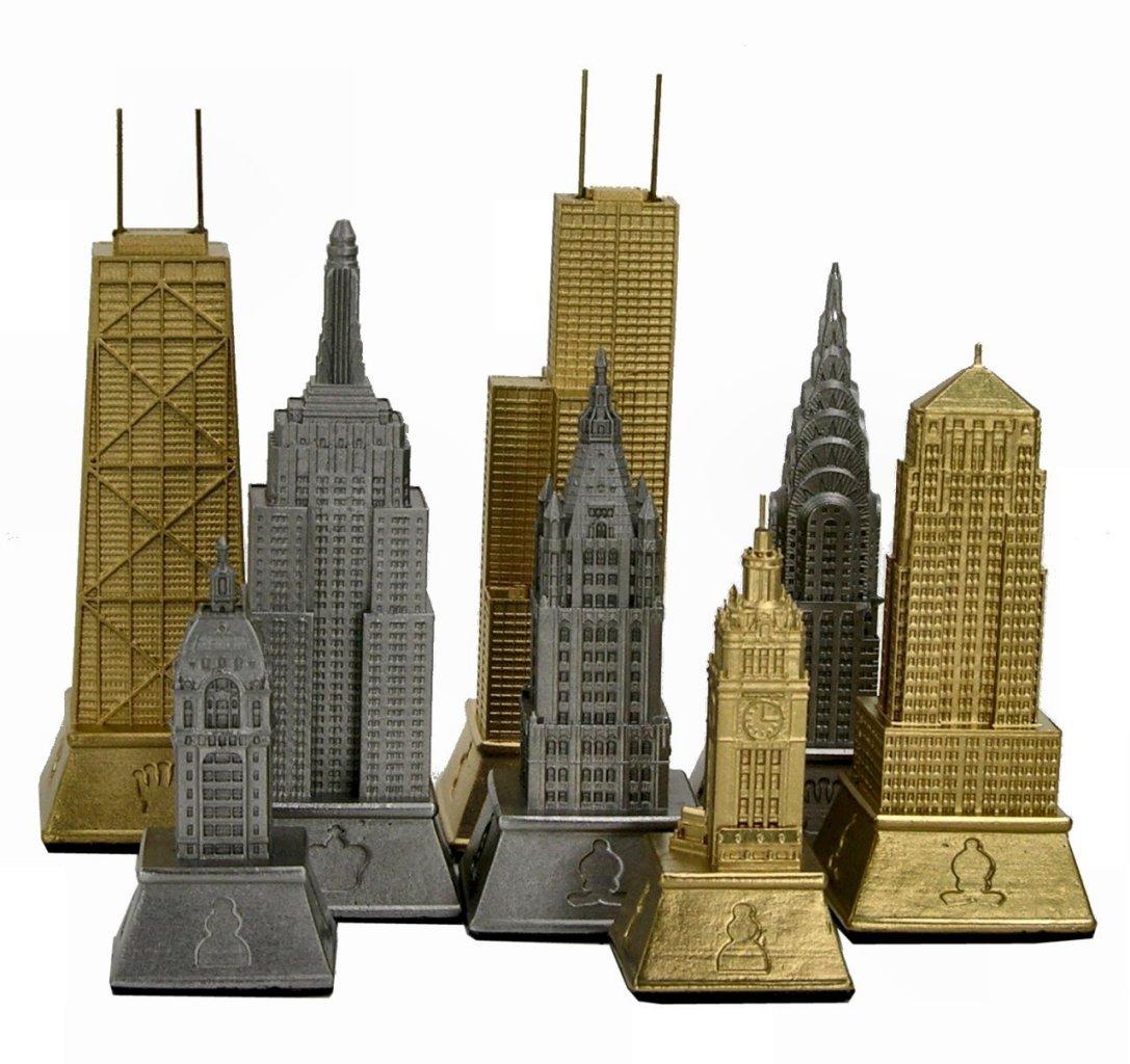 Miniature buildings infocustech skyline chess set art for Miniature architecture